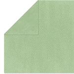 Bo Bunny Press - Double Dot Paper - 12 x 12 Double Sided Paper - Sweet Pear Dot