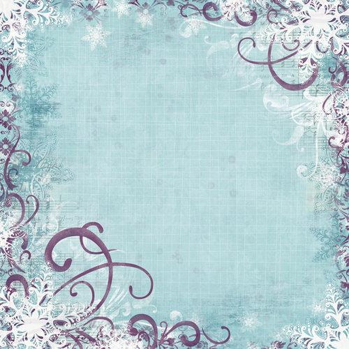 Bo Bunny Press - Snowy Serenade Collection - 12 x 12 Glittered Paper - Snowy Serenade, BRAND NEW