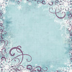 Bo Bunny Press - Snowy Serenade Collection - 12 x 12 Glittered Paper - Snowy Serenade, BRAND NEW
