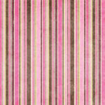Bo Bunny Press - Smitten Collection - Valentine's Day - 12x12 Iridescent Paper - Smitten Stripe