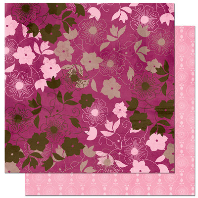 Bo Bunny Press - Sophie Collection - 12 x 12 Double Sided Paper - Sophie Silhouette, CLEARANCE