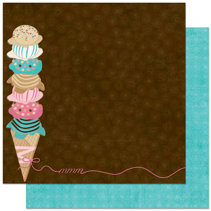 Bo Bunny Press - Sweet Tooth Collection - 12 x 12 Double Sided Paper - Scoops