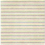 Bo Bunny Press - Shabby Princess - Star Struck Collection - 12x12 Paper - Star Struck Dashed- Baby - Boy