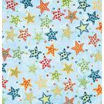 Bo Bunny Press - Shabby Princess - Star Struck Collection - 12x12 Paper - Star Struck Dust- Baby - Boy