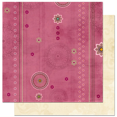 Bo Bunny Press - Sophie Collection - 12 x 12 Double Sided Paper - Sophie Tickled Pink