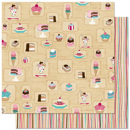 Bo Bunny Press - Sweet Tooth Collection - 12 x 12 Double Sided Paper - Temptations