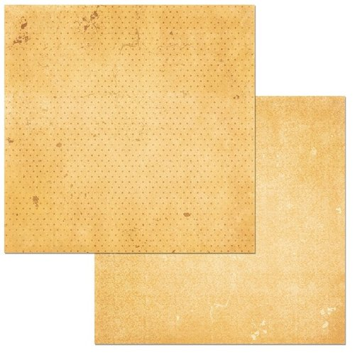 BoBunny - Double Dot Collection - 12 x 12 Double Sided Cardstock Paper - Sunflower Vintage