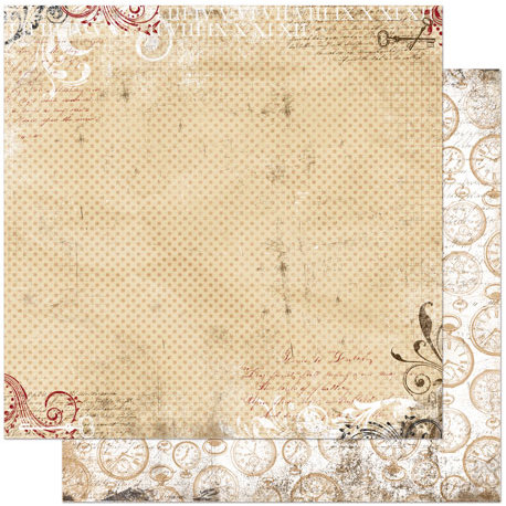 Bo Bunny Press - Timepiece Collection - 12 x 12 Double Sided Paper - Dot
