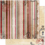 Bo Bunny - Timepiece Collection - 12 x 12 Double Sided Paper - Stripe