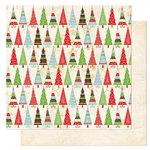 Bo Bunny Press - Tis The Season Collection - Christmas - 12 x 12 Double Sided Paper - Tis The Season Deck The Halls