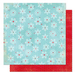 Bo Bunny Press - Tis The Season Collection - Christmas - 12 x 12 Double Sided Paper - Tis The Season Snow Flakes