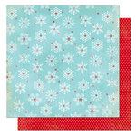 Bo Bunny Press - Tis The Season Collection - Christmas - 12 x 12 Double Sided Paper - Tis The Season Snow Flakes