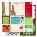 Bo Bunny Press - Tis The Season Collection - Christmas - 12 x 12 Double Sided Paper - Tis The Season Cut Outs