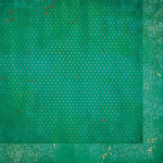BoBunny - Double Dot Designs Collection - 12 x 12 Double Sided Paper - Vintage - Turquoise