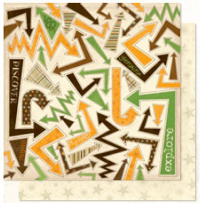 Bo Bunny Press - U Bug Me Collection - 12 x 12 Double Sided Paper - U Bug Me Arrows, CLEARANCE