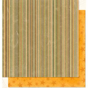 Bo Bunny Press - U Bug Me Collection - 12 x 12 Double Sided Paper - U Bug Me Stripe