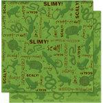 Bo Bunny Press - U Bug Me Collection - 12 x 12 Double Sided Paper - U Bug Me Slimy, CLEARANCE