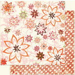 Bo Bunny Press - Vicki B Collection - 12 x 12 Double Sided Paper - Florilicious