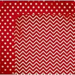 Bo Bunny - Double Dot Designs Collection - 12 x 12 Double Sided Paper - Chevron - Wild Berry