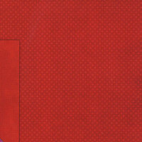 BoBunny - Double Dot Collection - 12 x 12 Double Sided Cardstock Paper - Wild Berry Red