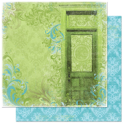 Bo Bunny Press - Welcome Home Collection - 12 x 12 Double Sided Paper - Front Door