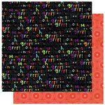 Bo Bunny Press - Whoo-ligans Collection - Halloween - 12 x 12 Double Sided Paper - Whoo-ligans Grrrr