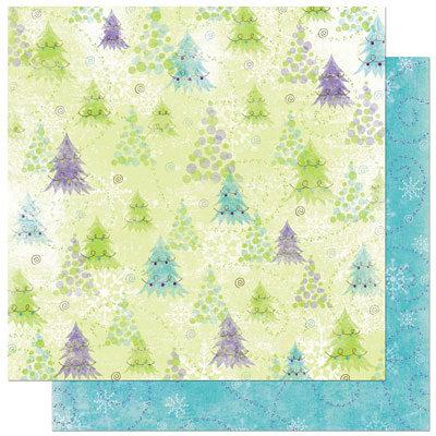 Bo Bunny Press - Winter Joy Collection - Christmas - 12 x 12 Double Sided Paper - Winter Joy Brrrr