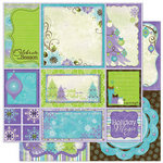 Bo Bunny Press - Winter Joy Collection - Christmas - 12 x 12 Double Sided Paper - Winter Joy Cut Outs