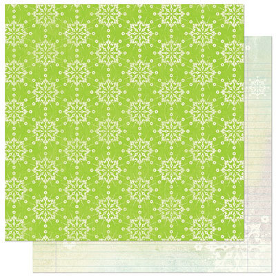 Bo Bunny Press - Winter Joy Collection - Christmas - 12 x 12 Double Sided Paper - Winter Joy Snow Fall