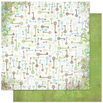 Bo Bunny Press - Welcome Home Collection - 12 x 12 Double Sided Paper - Key