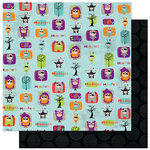Bo Bunny Press - Whoo-ligans Collection - Halloween - 12 x 12 Double Sided Paper - Whoo-ligans Madness