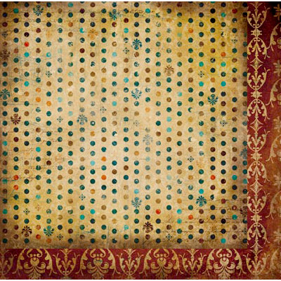 Bo Bunny - Weekend Market Collection - 12 x 12 Double Sided Paper - Dot