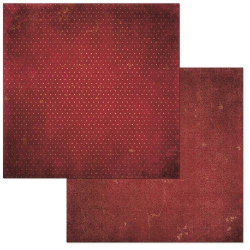 BoBunny - Double Dot Collection - 12 x 12 Double Sided Cardstock Paper - Wine Vintage