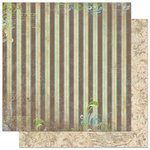 Bo Bunny Press - Welcome Home Collection - 12 x 12 Double Sided Paper - Stripe