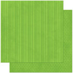Bo Bunny - Double Dot Designs Collection - 12 x 12 Double Sided Paper - Stripe - Wasabi