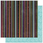 Bo Bunny Press - Whoo-ligans Collection - Halloween - 12 x 12 Double Sided Paper - Whoo-ligans Stripe
