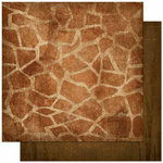 Bo Bunny - Zoology Collection - 12 x 12 Double Sided Paper - Giraffe