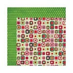 Bo Bunny - Mistletoe Collection - Christmas - 12 x 12 Double Sided Paper - Boxes