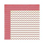 Bo Bunny - Mistletoe Collection - Christmas - 12 x 12 Double Sided Paper - Chevron