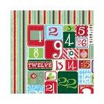 Bo Bunny - Mistletoe Collection - Christmas - 12 x 12 Double Sided Paper - Countdown