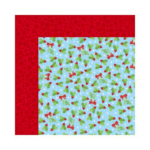 Bo Bunny - Mistletoe Collection - Christmas - 12 x 12 Double Sided Paper - Pucker Up