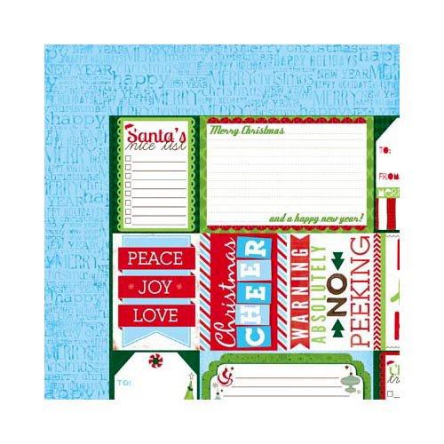 Bo Bunny - Mistletoe Collection - Christmas - 12 x 12 Double Sided Paper - Santa's List