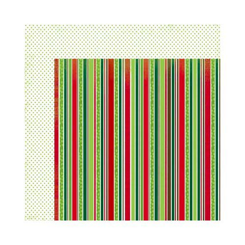 Bo Bunny - Mistletoe Collection - Christmas - 12 x 12 Double Sided Paper - Stripe
