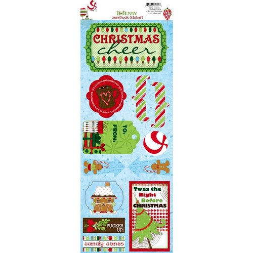 Bo Bunny - Mistletoe Collection - Christmas - Cardstock Stickers - Christmas Cheer