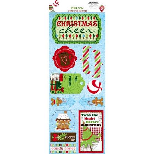 Bo Bunny - Mistletoe Collection - Christmas - Cardstock Stickers - Christmas Cheer