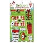 Bo Bunny - Mistletoe Collection - Christmas - Layered Chipboard Stickers with Glitter and Jewel Accents