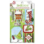 Bo Bunny - Mistletoe Collection - Christmas - 3 Dimensional Stickers with Glitter and Jewel Accents