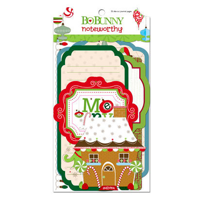 Bo Bunny - Mistletoe Collection - Christmas - Note Worthy Journaling Cards