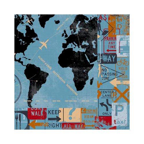 Bo Bunny - Detour Collection - 12 x 12 Double Sided Paper - Detour