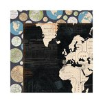 Bo Bunny - Detour Collection - 12 x 12 Double Sided Paper - Globe Trotting